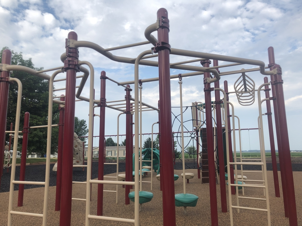 close up of new grade school playground