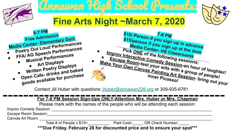 Fine Arts Night 2020
