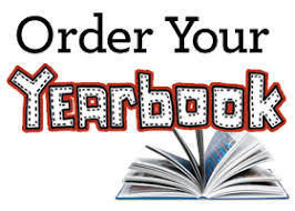picture of an open book and the words ORDER YOUR YEARBOOK
